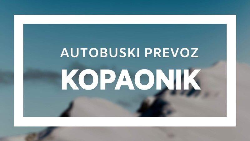 Autobuska linija Novi Sad - Kopaonik, autobuski prevoz Kopaonik